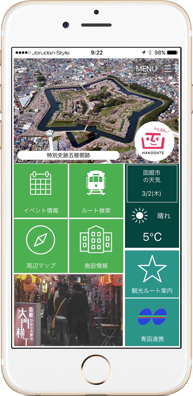 函館naviアプリ画面イメージ