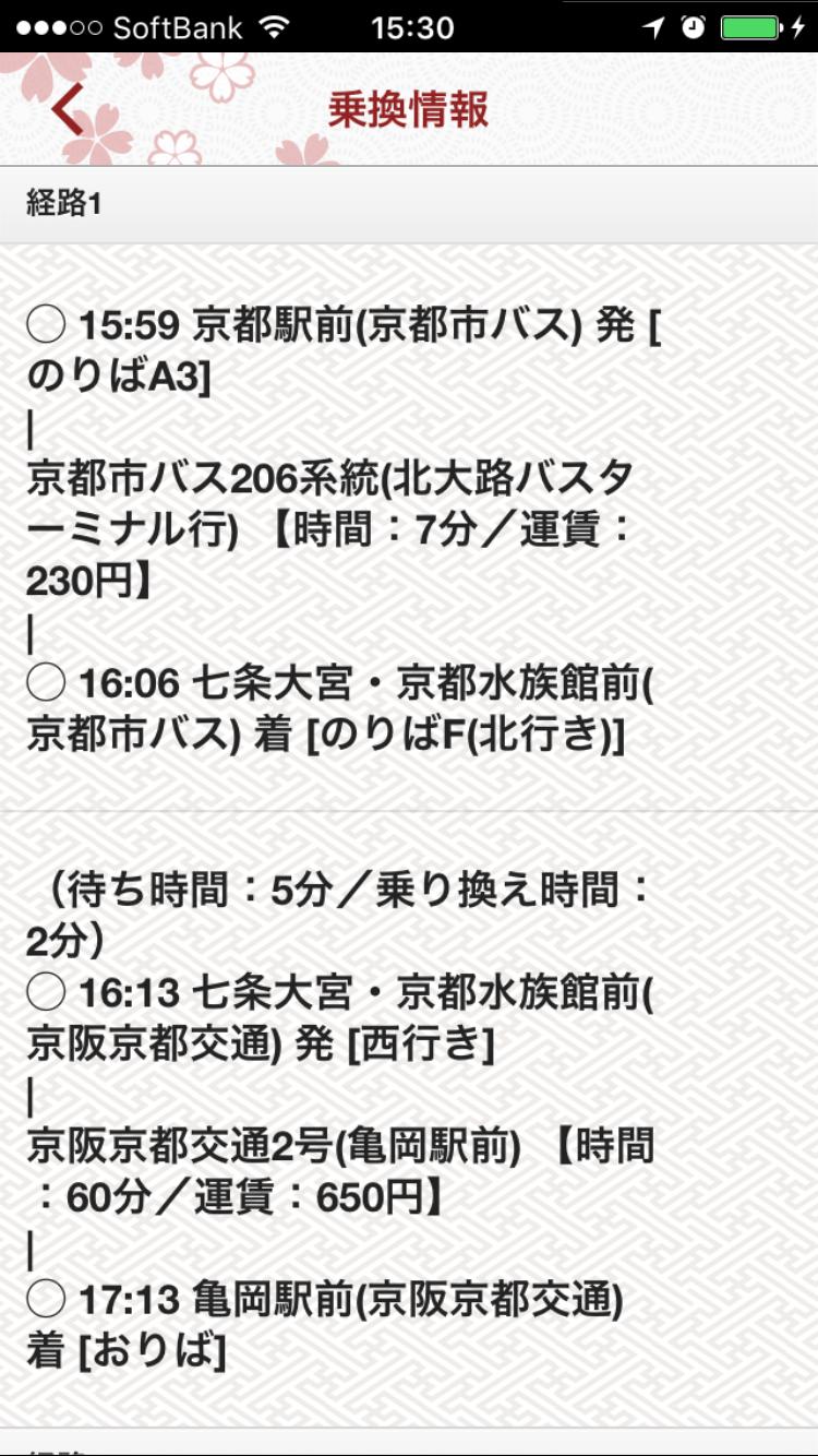 乗換情報TOP詳細